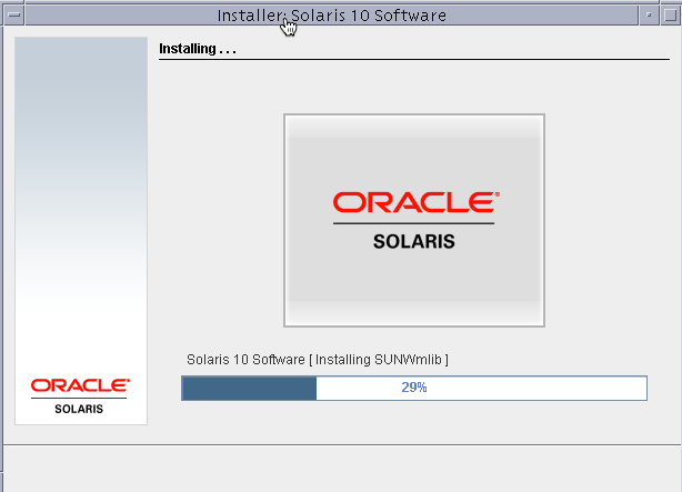 Installaing solaris progress bar