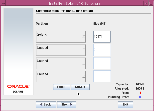 customize fdisk partitions