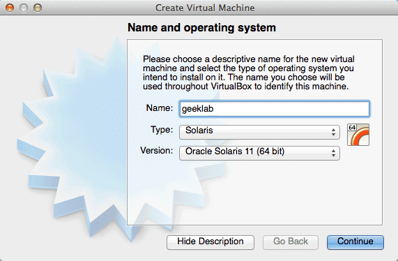 name virtual machine solaris 11