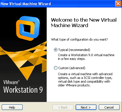 new VM wizard
