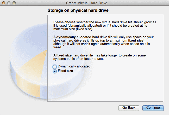 storage on physical hard drive