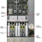 SPARC T3-2 top view with component details
