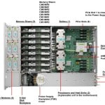 SPARC T5-2 top view with detailed component view