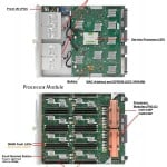 SPARC T5-4 top view with detailed component view