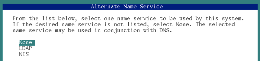 alternate name service solaris 11 installation