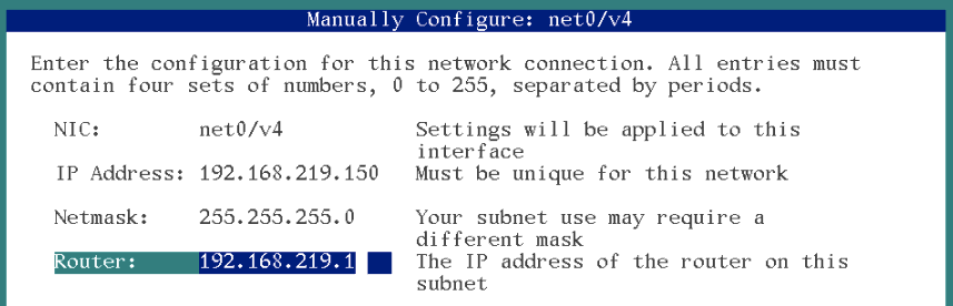 manually configuring the network solaris 11 installation