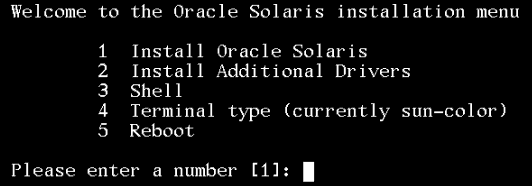 solaris 11 installation menu