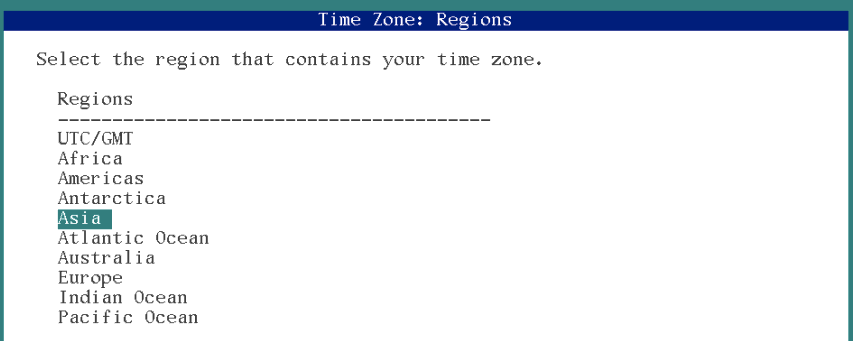 time zone selection solaris 11 installation
