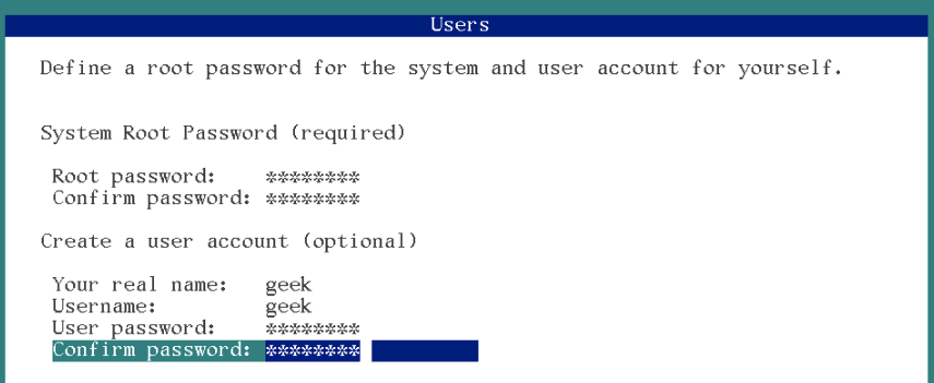 user creation during solaris 11 installation