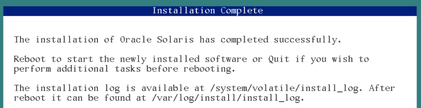 viewing solaris 11 installation logs