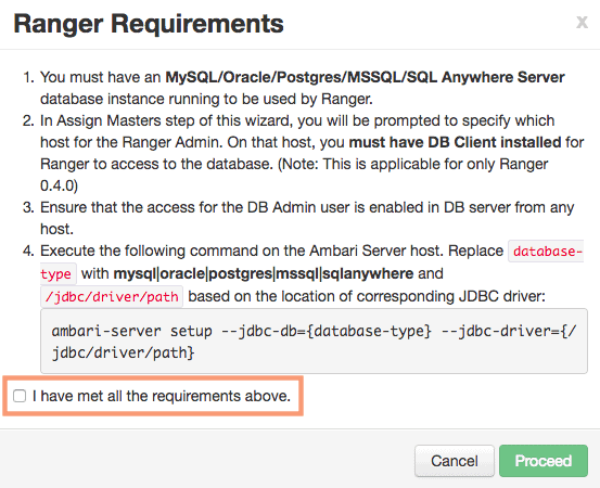 Ranger requirements - installing and configuring Ranger with ambari - HDPCA exam objective