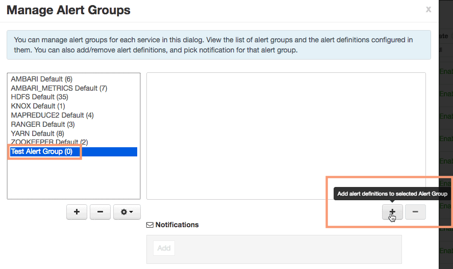 add alert definitions in alert group using ambari HDPCA exam