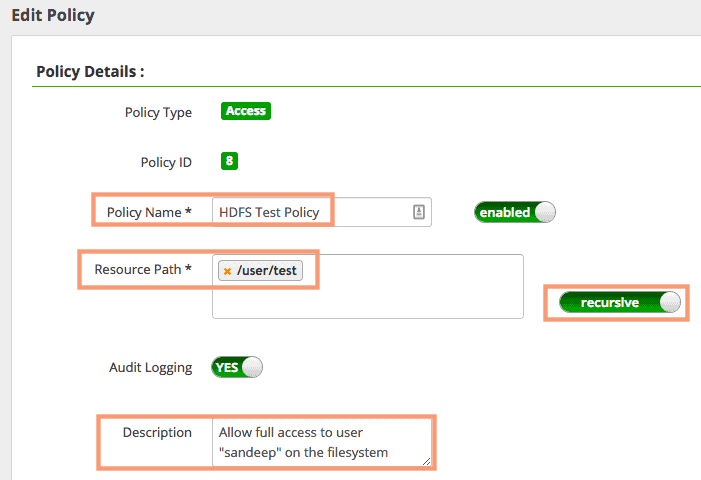 add new HDFS Ranger Policy HDPCA exam