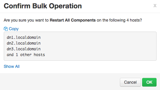 confirm restarting all the components on all HDP nodes
