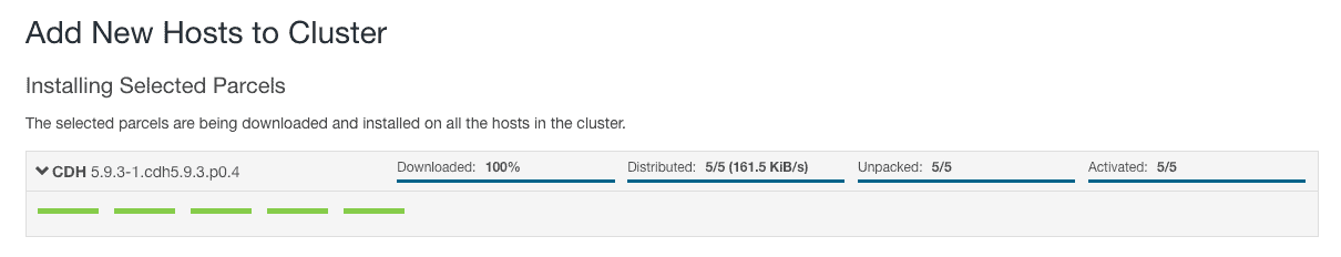 Installing selected parcels - CCA 131 add new host using cloudera manager
