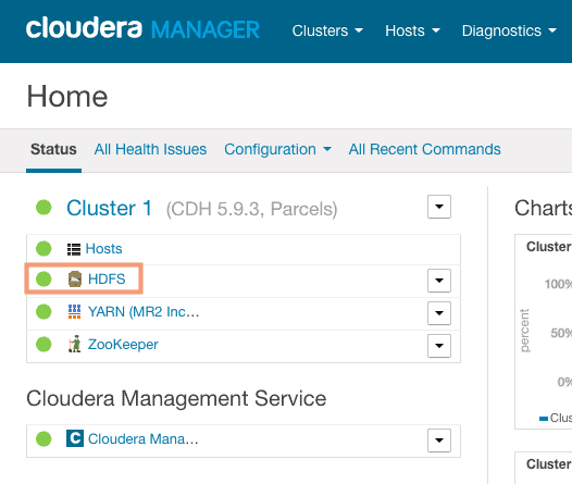 Rebalancing the cluster from Cloudera Manager CCA 131