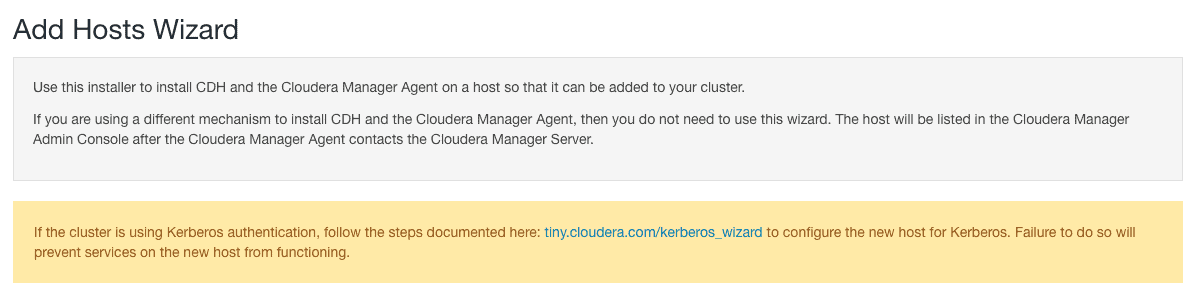 add hosts wizard cloudera manager CCA 131