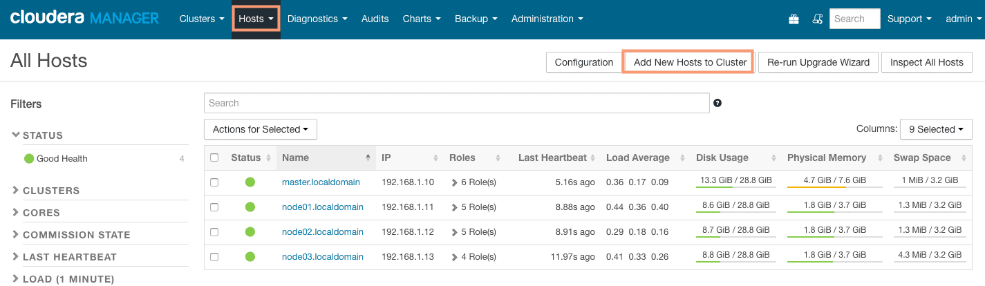 add new host using cloudera manager CCA 131