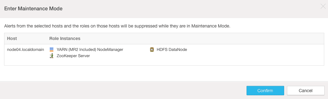 alert suppression for hosts and roles cloudera manager maintenance mode