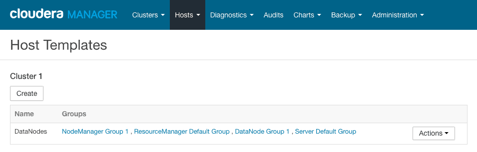 list host templates in cloudera manager CCA 131