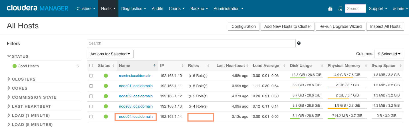 new host added without any roles assigned - CCA 131 add host with cloudera manager