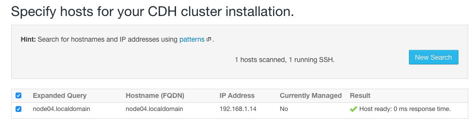scanning host for addition to cluster using cloudera manager CCA 131