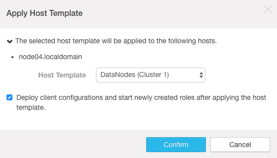 select the host template to apply CCA 131 exam