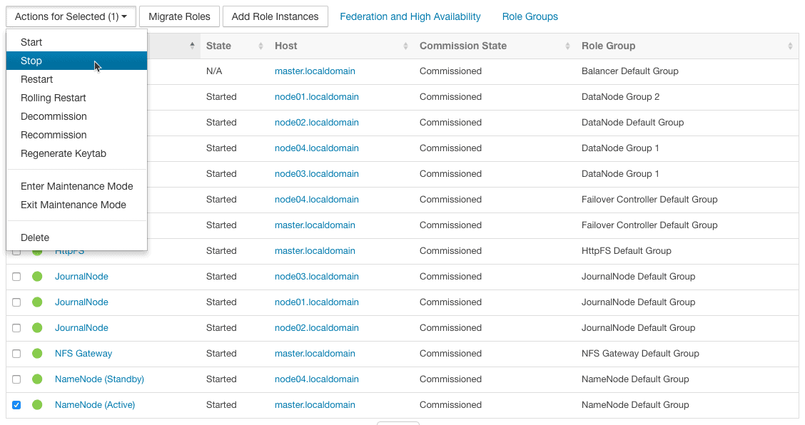 Namaode HA testing from Cloudera Manager CCA131