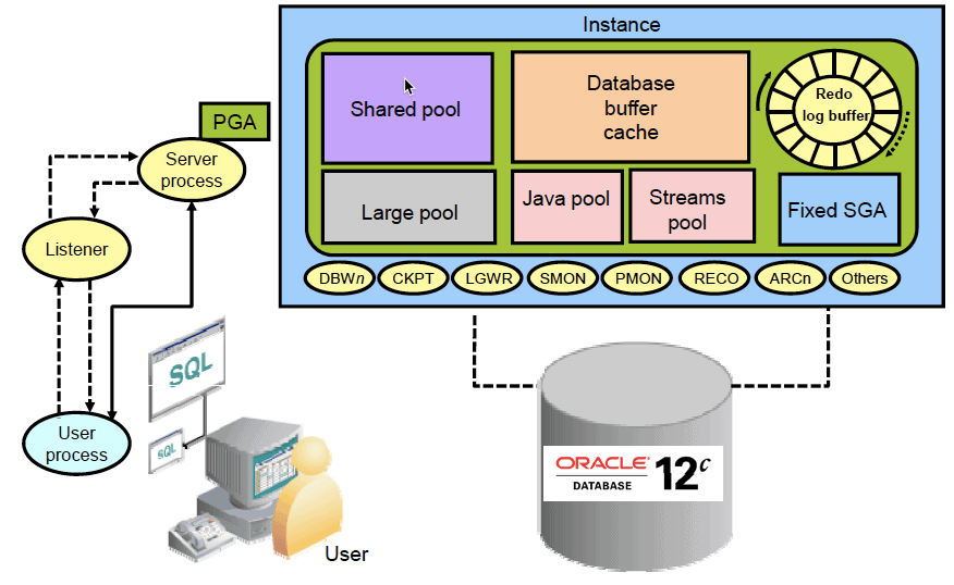 how sql query is executed in oracle database
