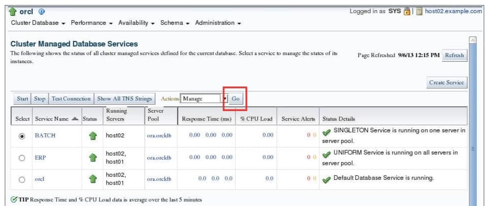 Managing Services with Enterprise Manager