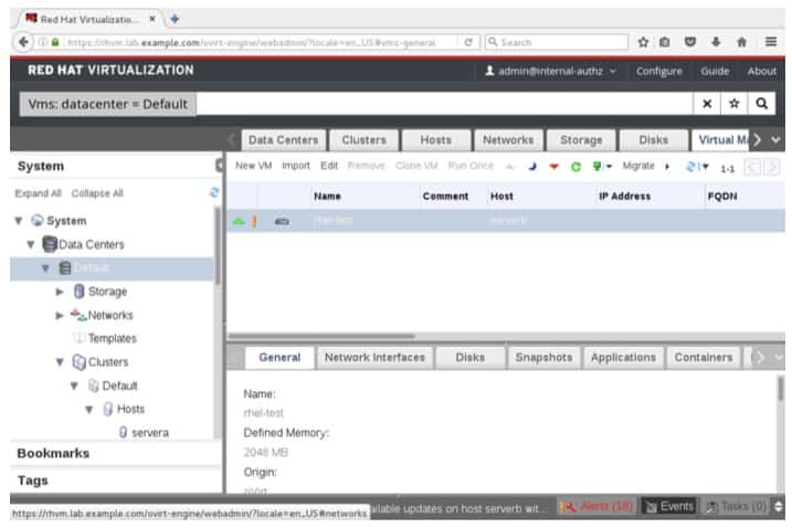 Identifying the current host of the virtual machine