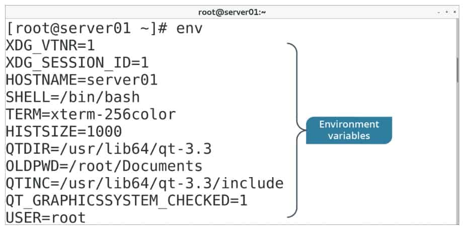 env command examples in Linux
